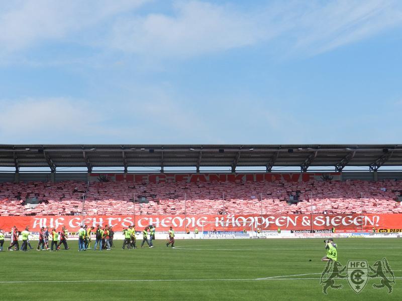 34. Spieltag: Hallescher FC vs. Rasenballsport Leipzig