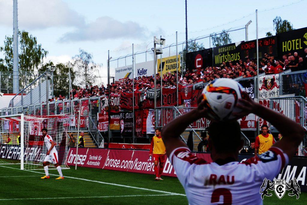 09. Spieltag: Würzburger Kickers vs. Hallescher FC