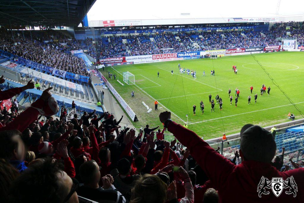 38. Spieltag: FC Hansa Rostock vs. Hallescher FC