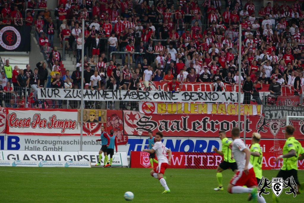 37. Spieltag: Hallescher FC vs. SV Wehen Wiesbaden